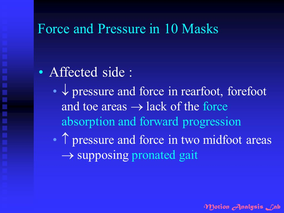 Force and Pressure in 10 Masks