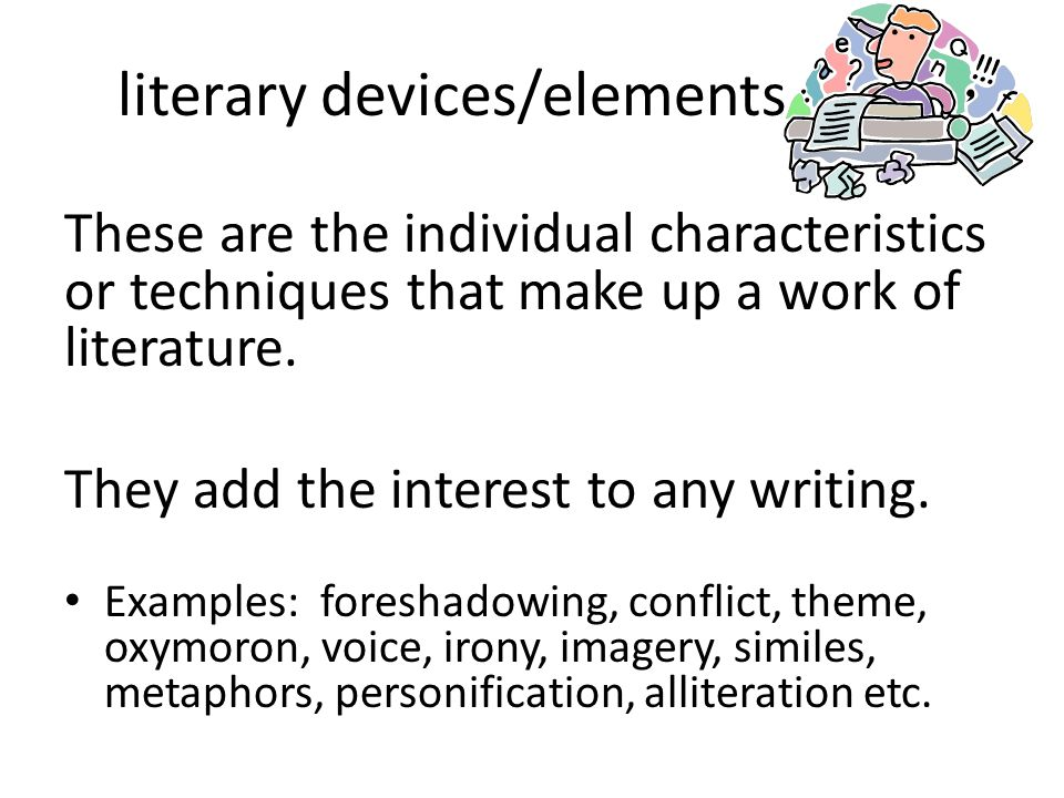 literary devices/elements