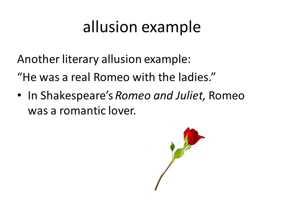 allusion example Another literary allusion example: