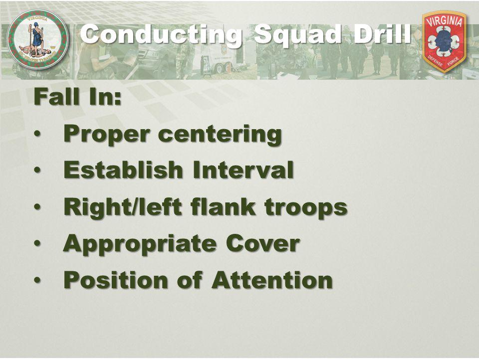 Conducting Squad Drill
