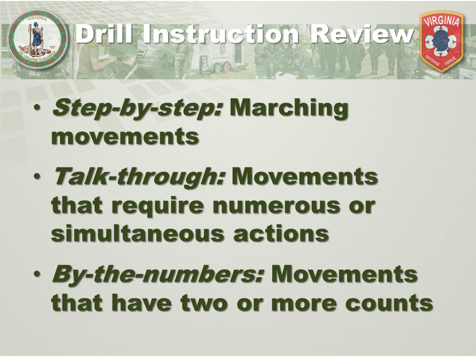 Drill Instruction Review