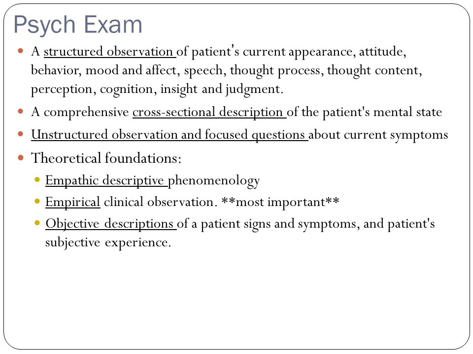 Psych Exam Theoretical foundations: