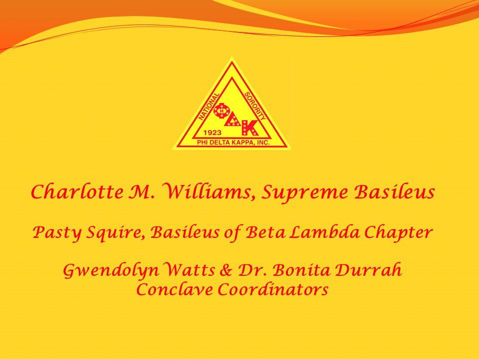 Charlotte M. Williams, Supreme Basileus