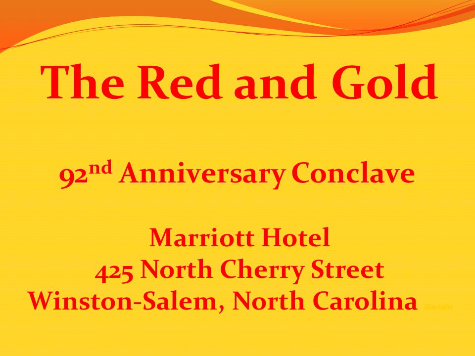 92nd Anniversary Conclave