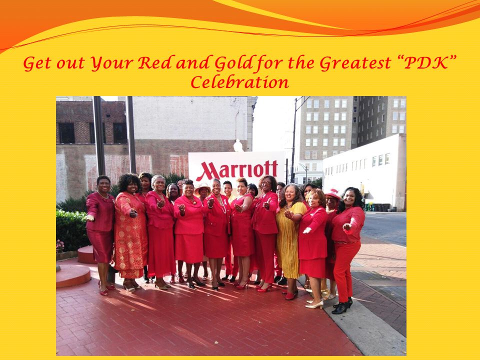 Get out Your Red and Gold for the Greatest PDK Celebration