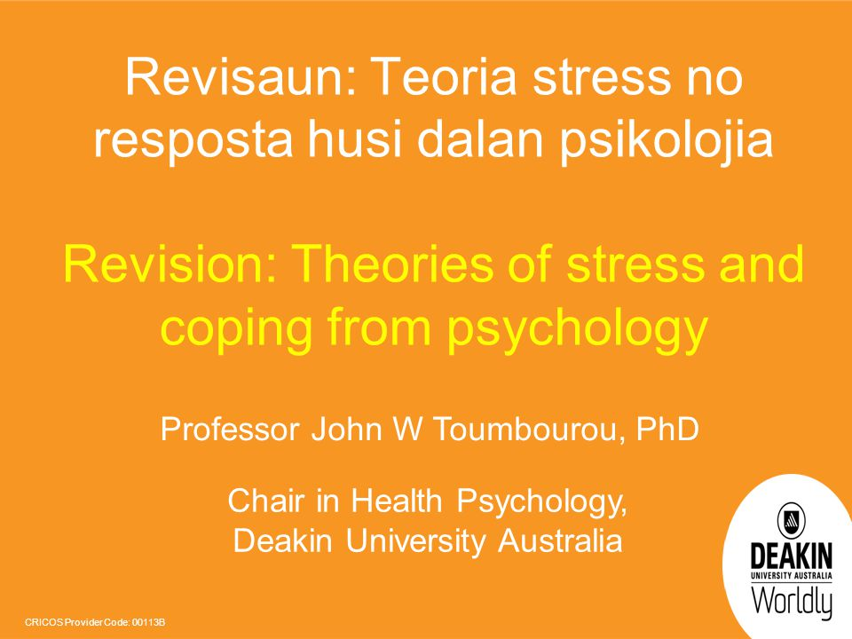 Revisaun: Teoria stress no resposta husi dalan psikolojia