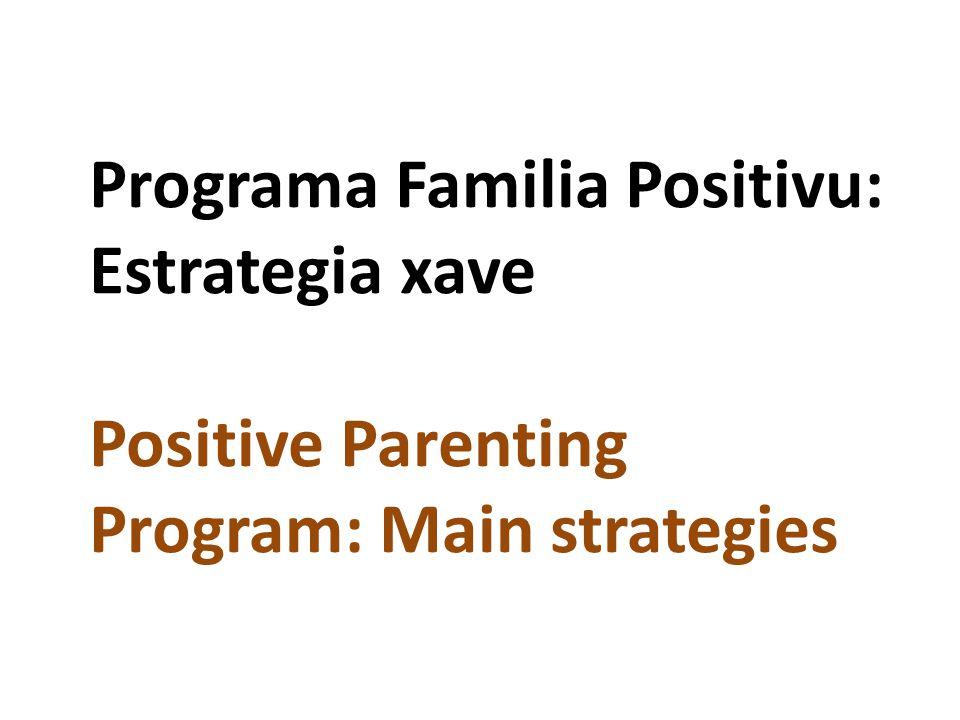 Programa Familia Positivu: Estrategia xave Positive Parenting Program: Main strategies