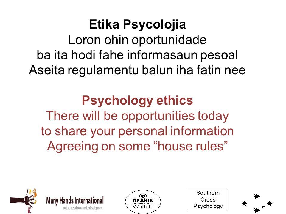 Etika Psycolojia Loron ohin oportunidade