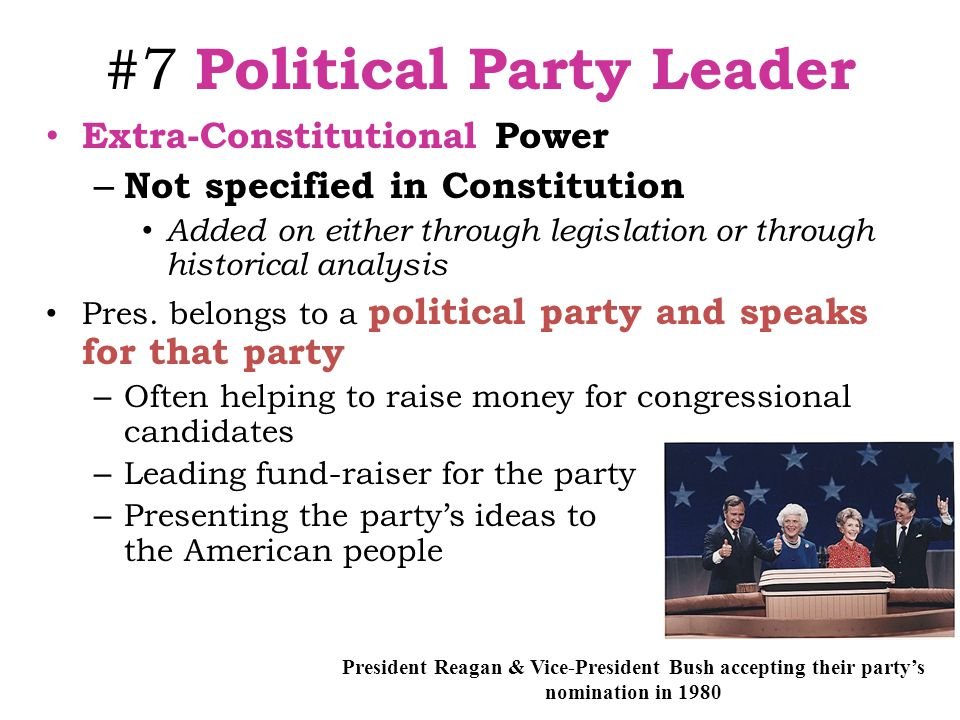 #7 Political Party Leader