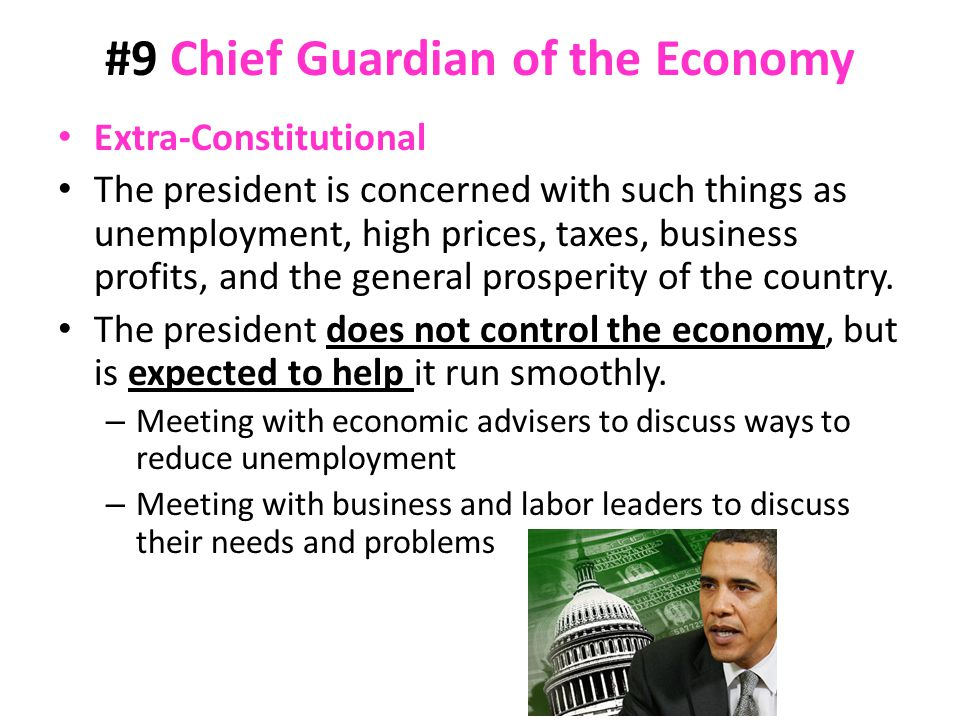 #9 Chief Guardian of the Economy