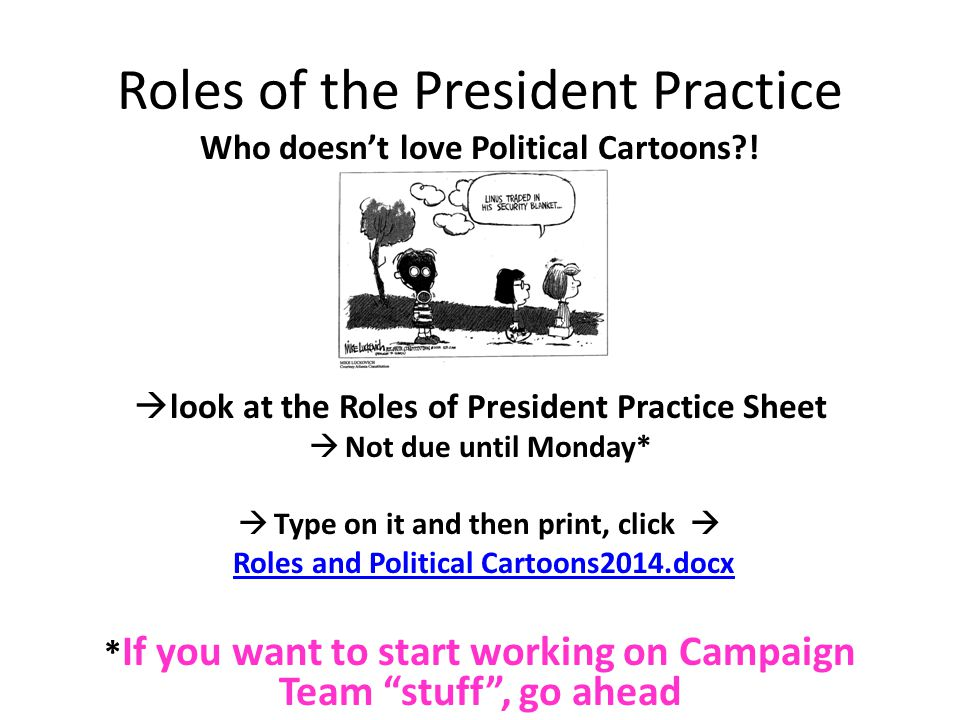 Roles of the President Practice