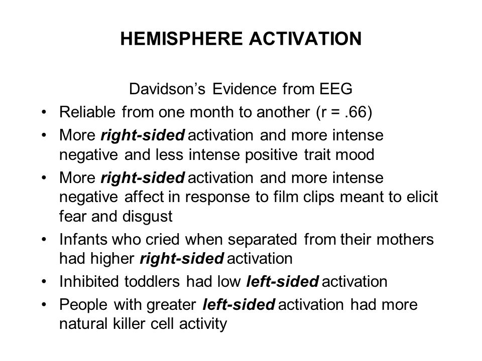 HEMISPHERE ACTIVATION