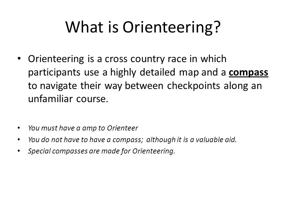 What is Orienteering