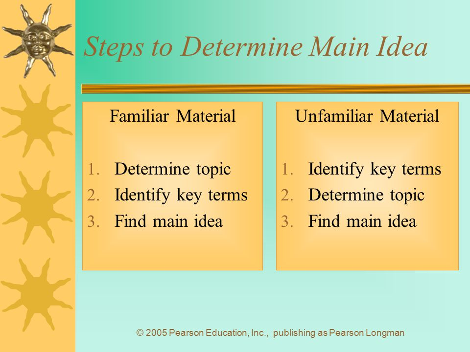 Steps to Determine Main Idea