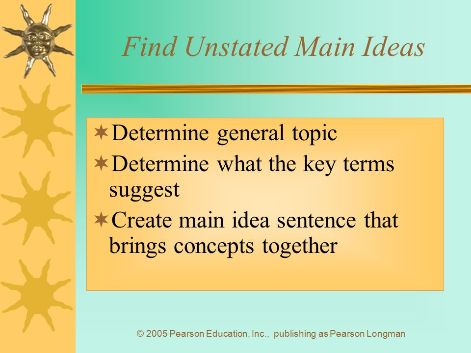 Find Unstated Main Ideas