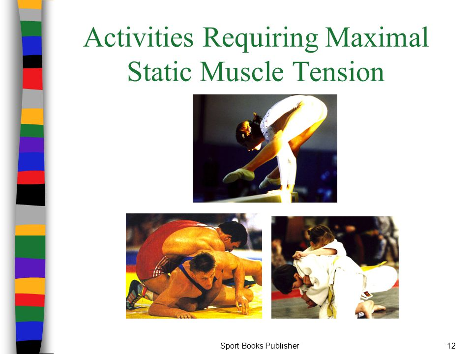 Activities Requiring Maximal Static Muscle Tension