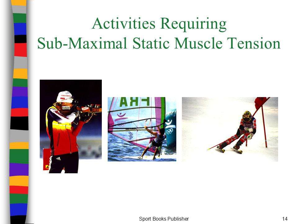 Activities Requiring Sub-Maximal Static Muscle Tension