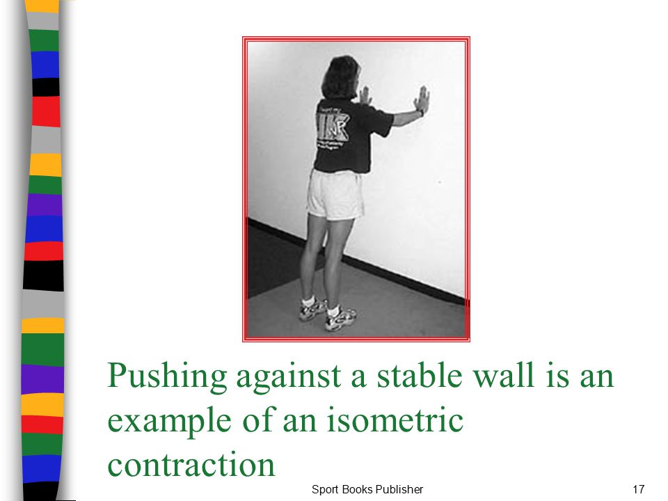 Pushing against a stable wall is an example of an isometric contraction