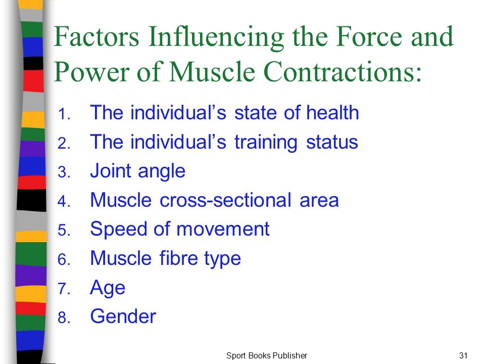 Factors Influencing the Force and Power of Muscle Contractions: