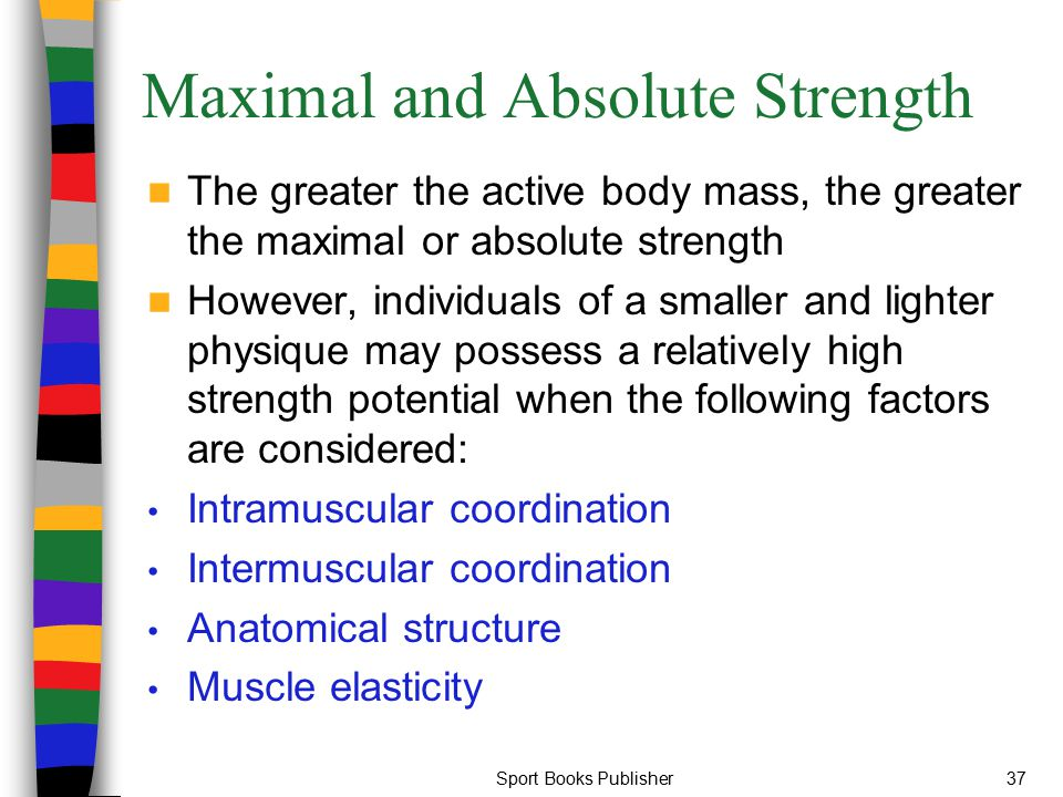 Maximal and Absolute Strength