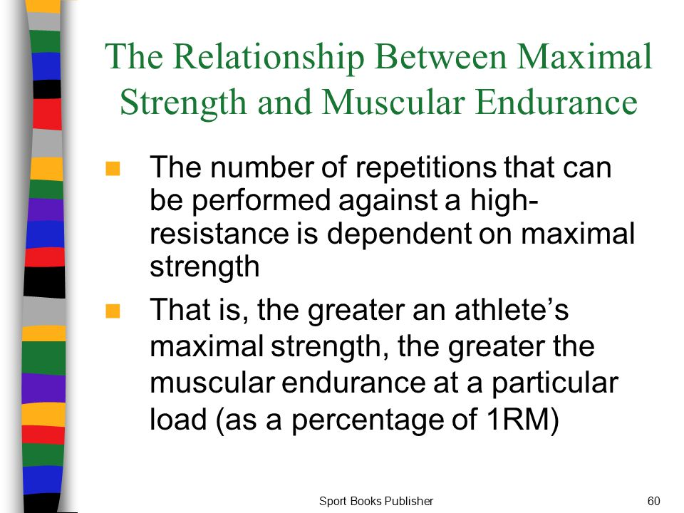 The Relationship Between Maximal Strength and Muscular Endurance