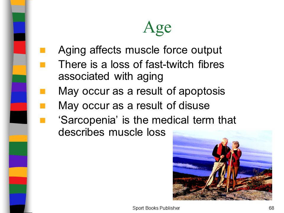 Age Aging affects muscle force output