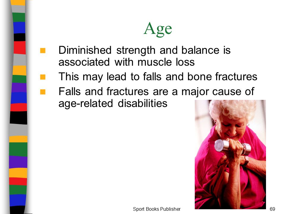Age Diminished strength and balance is associated with muscle loss
