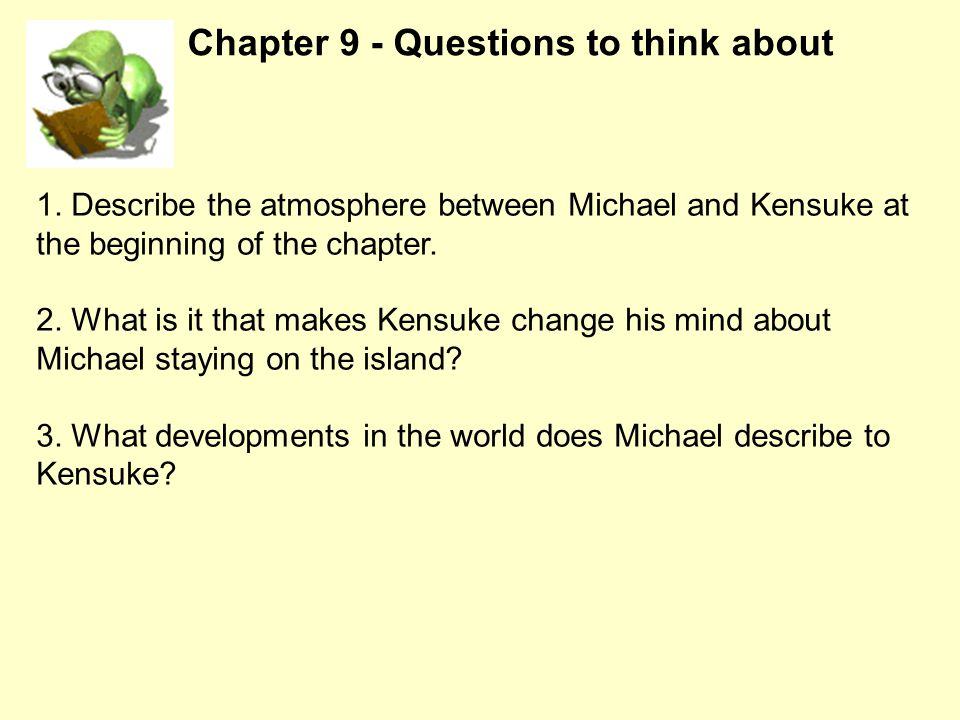 Chapter 9 - Questions to think about