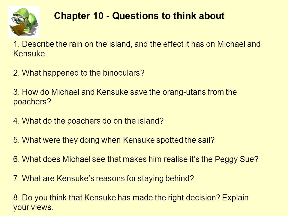 Chapter 10 - Questions to think about