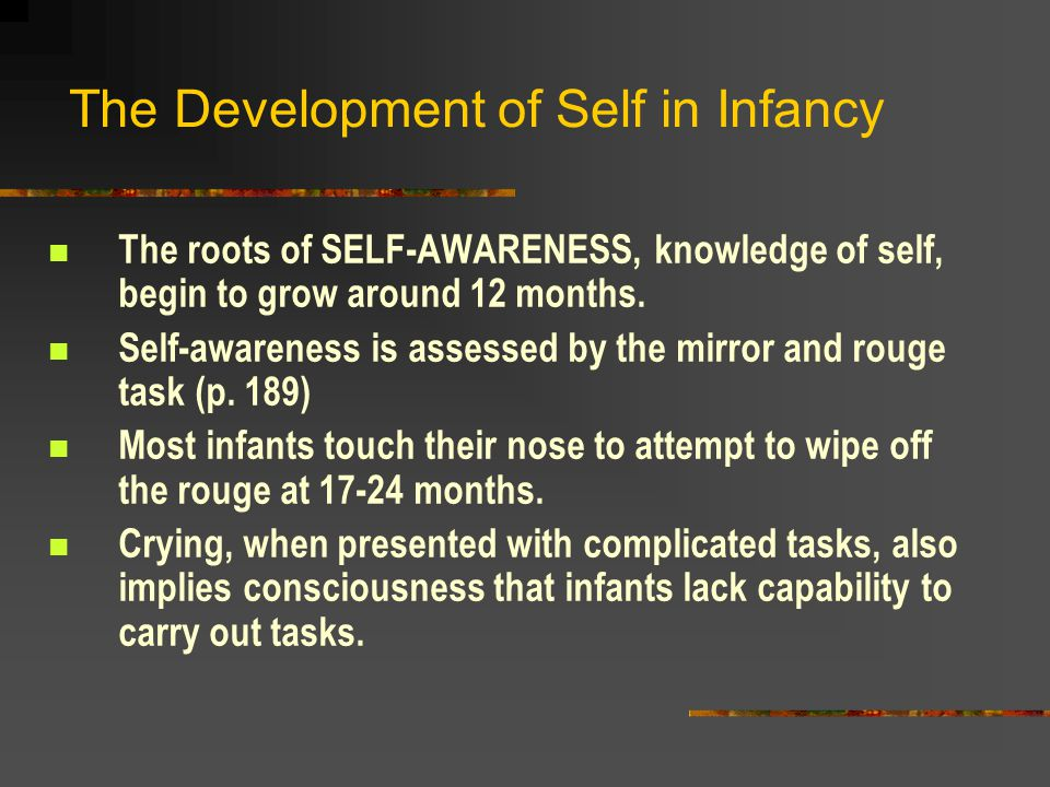 The Development of Self in Infancy