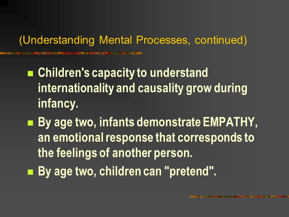 (Understanding Mental Processes, continued)
