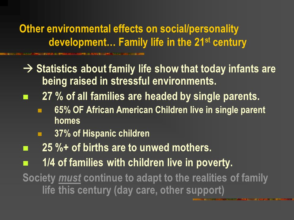 27 % of all families are headed by single parents.
