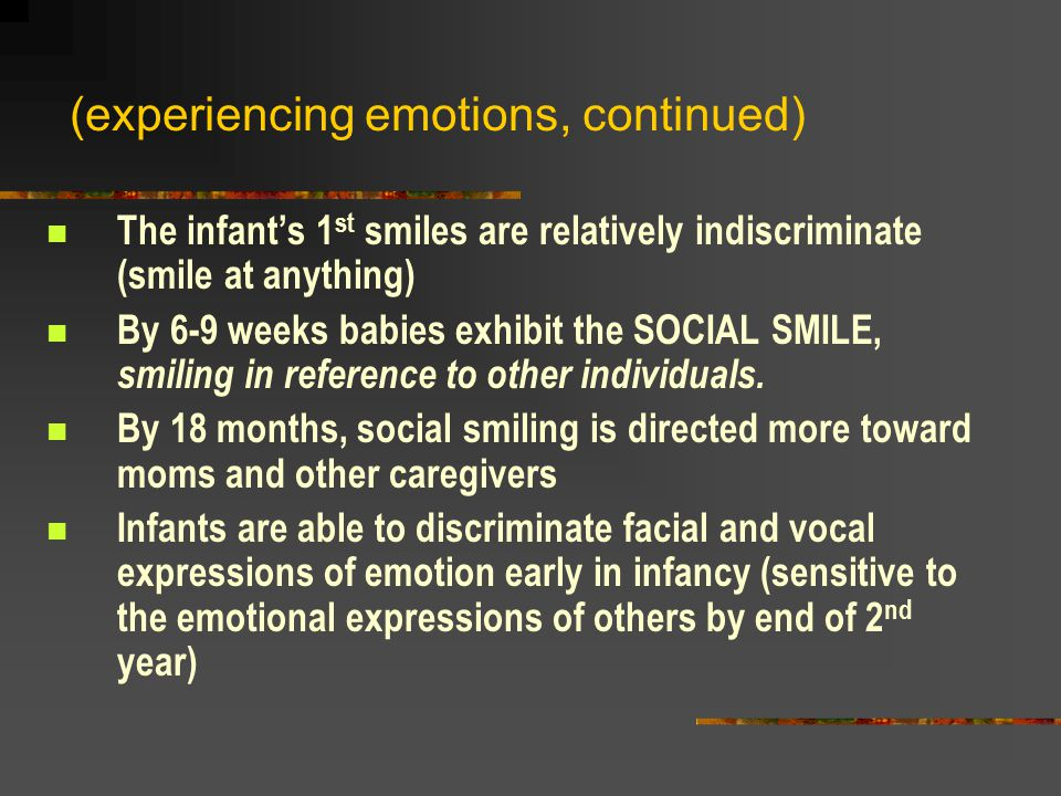 (experiencing emotions, continued)