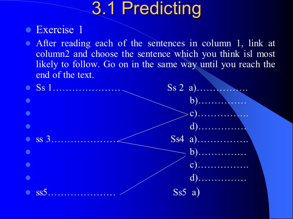 3.1 Predicting Exercise 1.