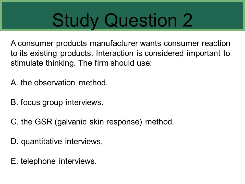 Study Question 2 This slide refers to boldfaced terms appearing in Chapter 8.