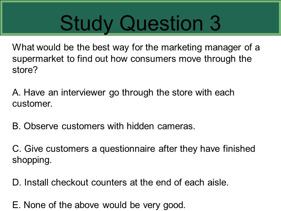Study Question 3 This slide refers to boldfaced terms appearing in Chapter 8.