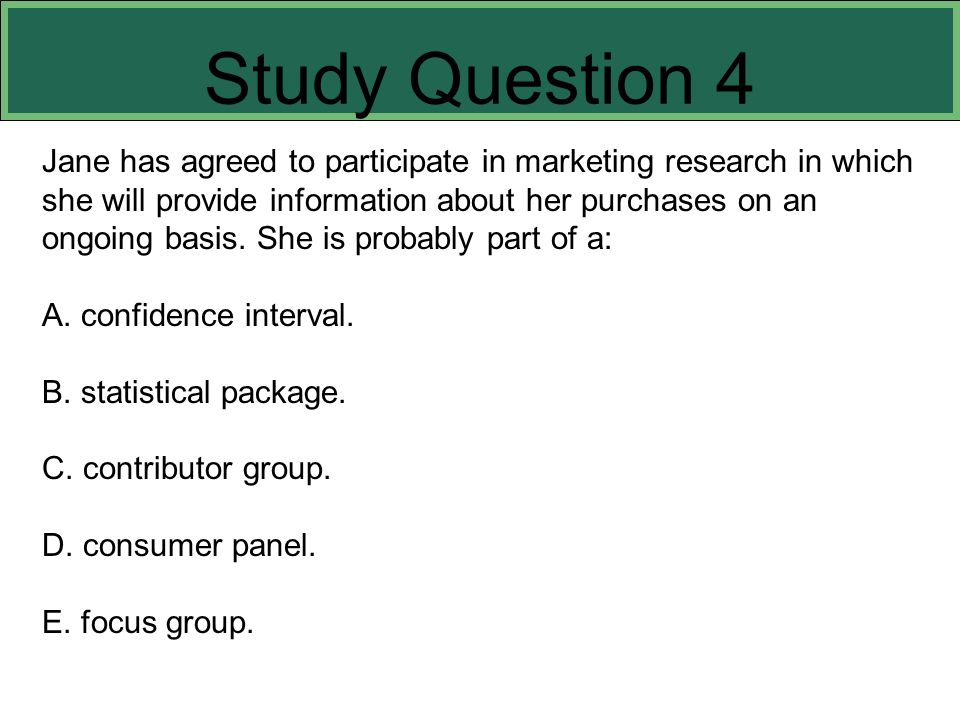 Study Question 4 This slide refers to boldfaced terms appearing in Chapter 8.