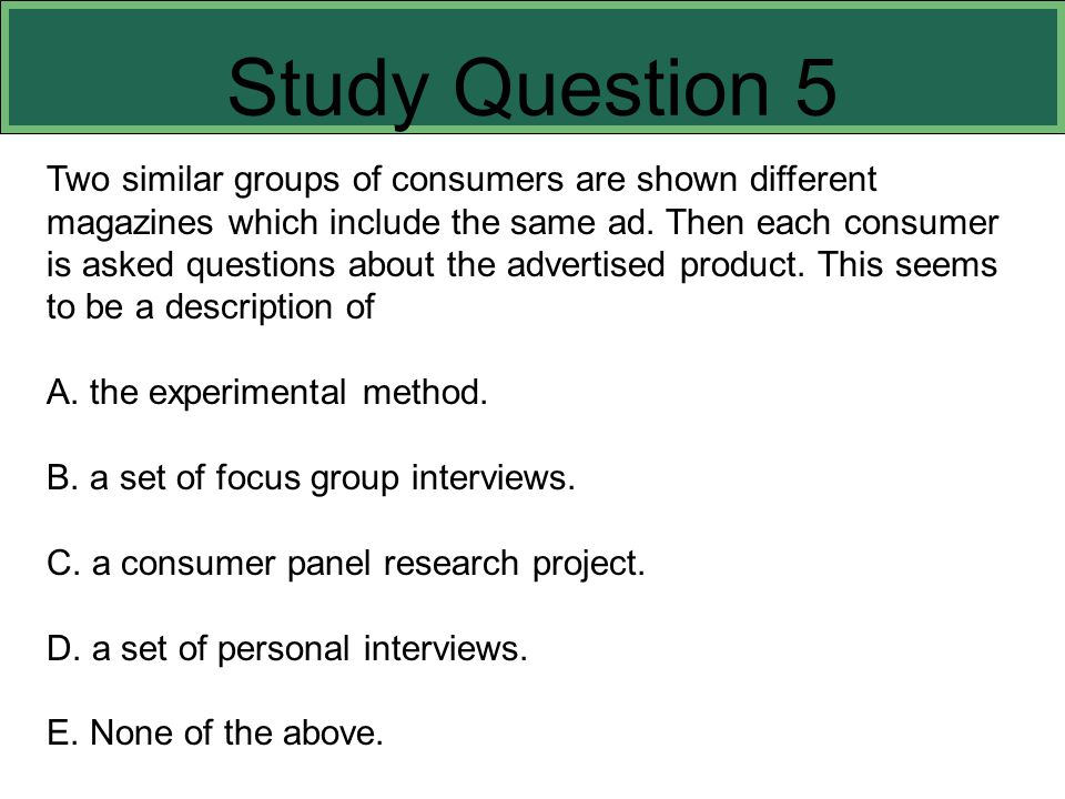 Study Question 5 This slide refers to boldfaced terms appearing in Chapter 8.