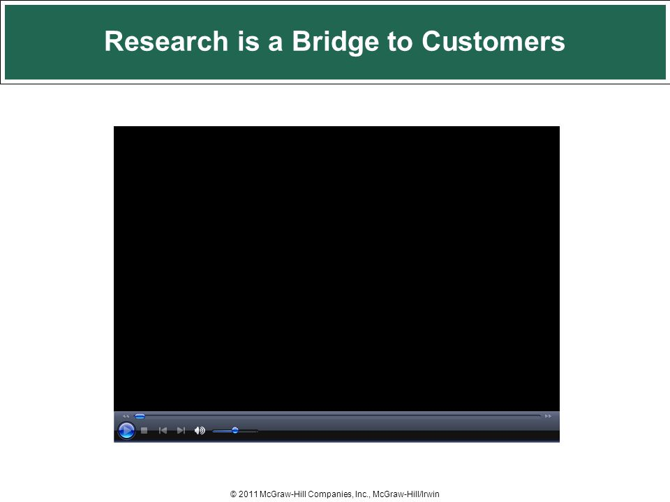 Research is a Bridge to Customers