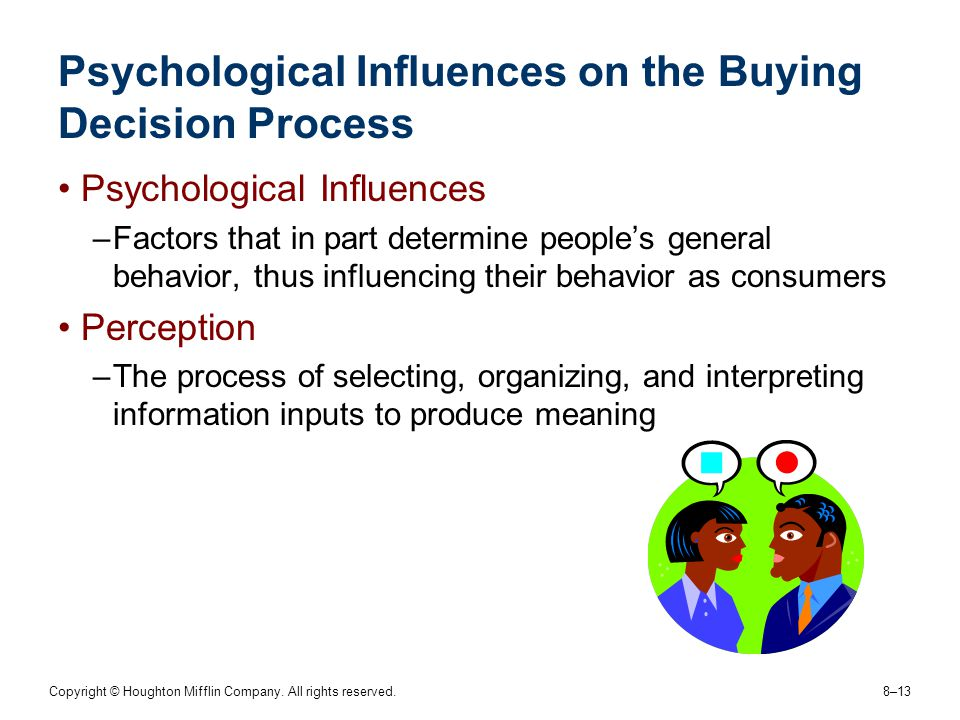 Psychological Influences on the Buying Decision Process
