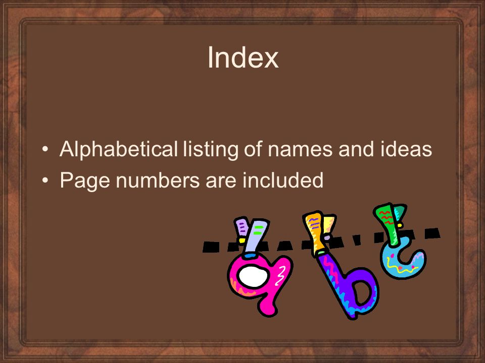 Index Alphabetical listing of names and ideas