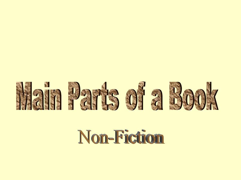 Main Parts of a Book Non-Fiction