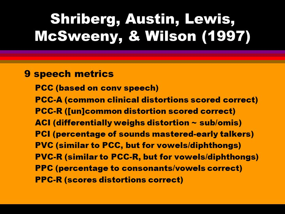 Shriberg, Austin, Lewis, McSweeny, & Wilson (1997)