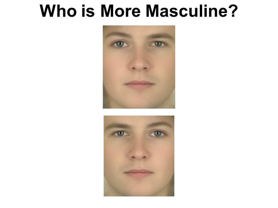 Who is More Masculine