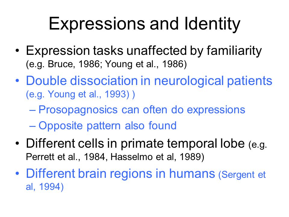 Expressions and Identity
