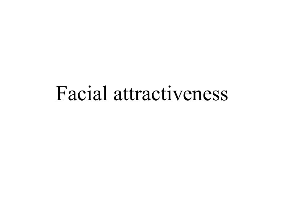 Facial attractiveness