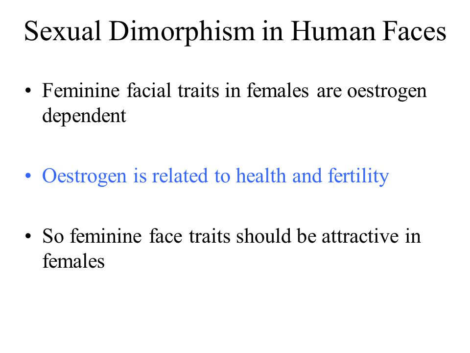 Sexual Dimorphism in Human Faces