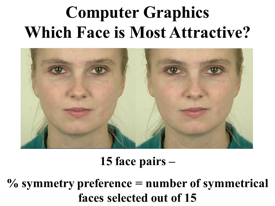 Computer Graphics Which Face is Most Attractive