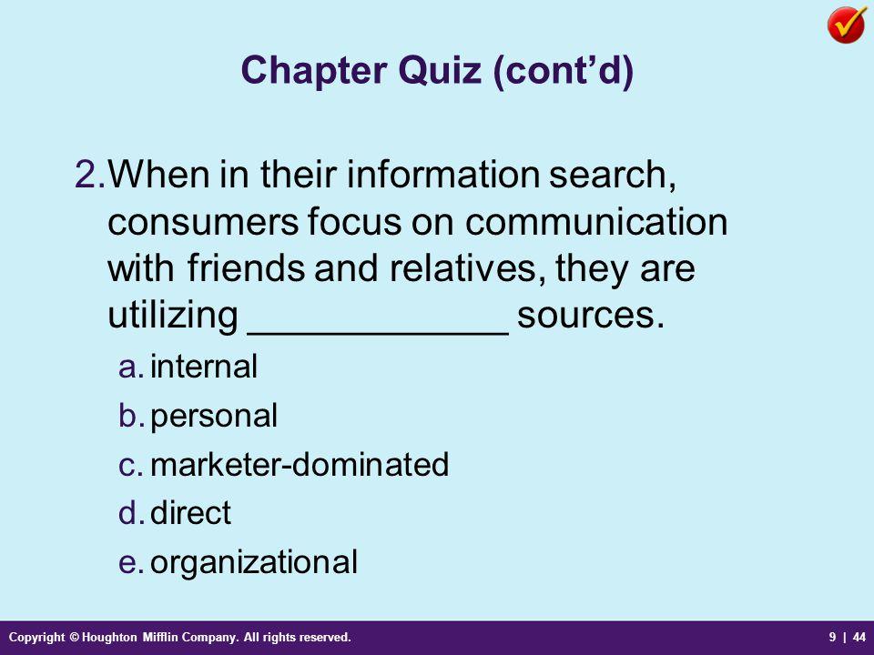 Chapter Quiz (cont'd)