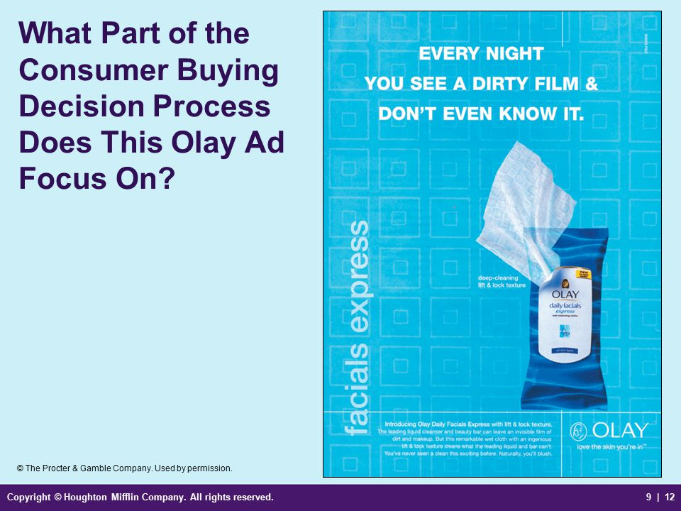 What Part of the Consumer Buying Decision Process Does This Olay Ad Focus On